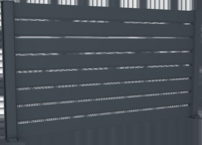 - Clôture aluminium ajourée