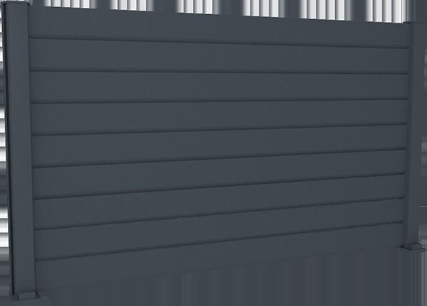 Clôture aluminium persienne